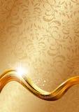 абстрактное золото предпосылки Стоковые Изображения RF