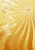 абстрактное золото рождества Стоковая Фотография