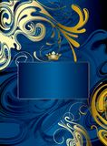 абстрактное золото сини предпосылки иллюстрация штока