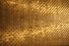 Абстрактное золотое движение нерезкости Стоковая Фотография