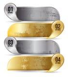 Абстрактное золото шаблона вариантов номера infographics дела Стоковое фото RF
