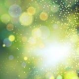 абстрактное золото bokeh предпосылки Стоковые Фото