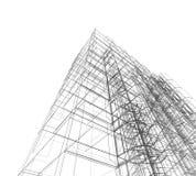 Абстрактное здание Стоковые Изображения RF
