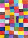 Абстрактное изображение акварели геометрическое Стоковые Фотографии RF