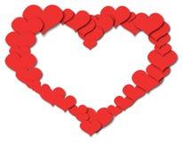 Абстрактное изображение вектора сердца картины Стоковая Фотография RF