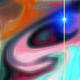 Абстрактное изображение в оранжевых и голубых подкрасках, предпосылке Стоковые Фотографии RF