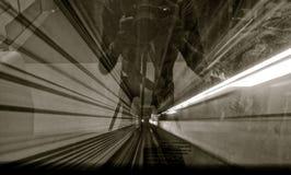 Абстрактное изображение движения тоннеля стоковые фотографии rf