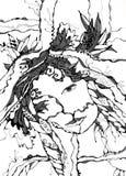 Абстрактное изображение женщины Стоковое Фото