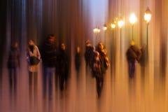 Абстрактное изображение жизни ночи в Париже Стоковое Фото