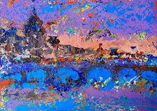 Абстрактное изображение захода солнца Стоковые Изображения