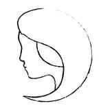 Абстрактное изображение значка женщины иллюстрация вектора