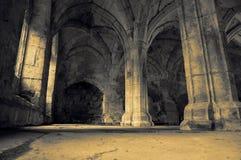 Абстрактное изображение интерьера средневекового аббатства стоковая фотография