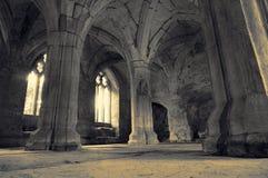 Абстрактное изображение интерьера средневекового аббатства стоковая фотография rf