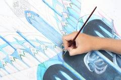 абстрактное изображение картины человека руки Стоковые Изображения RF