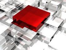 Абстрактное изображение кубов на белой предпосылке Стоковое Изображение