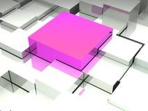Абстрактное изображение кубов на белой предпосылке Стоковое фото RF