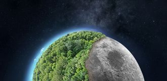 Колонизация космоса стоковые фотографии rf