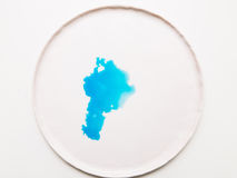 Абстрактное изображение помарки teal Стоковое Изображение