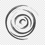 Абстрактное изображение прерывной воронки Вектор на прозрачной предпосылке бесплатная иллюстрация