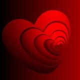 абстрактное изображение сердец иллюстрация штока