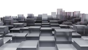 Абстрактное изображение стеклянных кубиков Стоковое Изображение RF