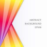 Абстрактное изображение с яркими треугольниками на белой предпосылке Стоковые Фотографии RF