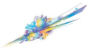 абстрактное изолированное цветастое бесплатная иллюстрация