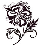 Абстрактное лини-искусство цветка Стоковые Изображения