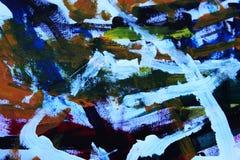 Абстрактное искусство в голубом и красной Стоковая Фотография RF