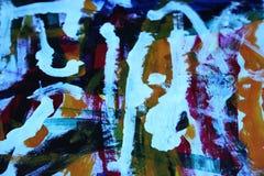 Абстрактное искусство в голубом и красной Стоковые Изображения RF