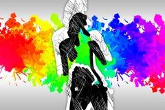 Абстрактное искусство дизайна цвета иллюстрация штока