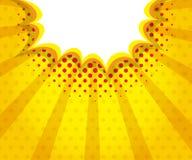 Абстрактное искусство шипучки пузыря речи пробела заграждения, предпосылка комика иллюстрация штока