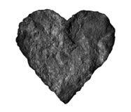 Абстрактное каменное изолированное сердце Стоковые Фото