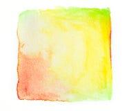 абстрактное квадратное pai руки тона цвета сезона осени акварели Стоковое Изображение RF
