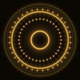 Абстрактное кольцо золота иллюстрация штока