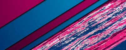 Абстрактное корпоративное знамя с текстурой пинка голубой мраморной стоковые изображения rf