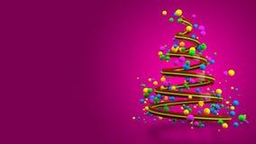 Абстрактное красочное знамя рождественской елки 3D стоковое фото rf