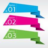 Абстрактное красочное знамя Origami. Стоковые Изображения RF