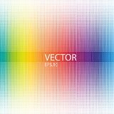 Абстрактное красочное полутоновое изображение ставит точки горизонтальная Бесплатная Иллюстрация
