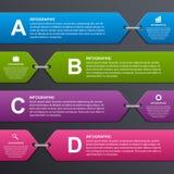 Абстрактное красочное infographic знамя вариантов элементы конструкции предпосылки 4 снежинки белой Стоковое фото RF