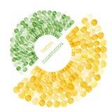 Абстрактное круглое, геометрическое знамя, шаблон для дизайна и вставка отправляют СМС Стоковое Изображение RF