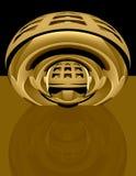 абстрактное латунное techno 3d Стоковое Фото