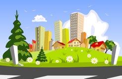 абстрактное лето города Стоковое Изображение