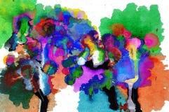 абстрактное масло цветов Стоковые Фото