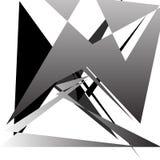 Абстрактное минимальное искусство - случайный нервный перекрывать формирует иллюстрация вектора