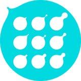 Абстрактное молоко, вода падает, templat логоса вектора масла Стоковое Изображение