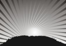 абстрактное небо травы Стоковые Изображения
