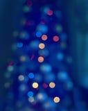 Абстрактное неясное изображение Новый Год, света рождества Стоковые Фото