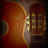 абстрактное нот гитары grunge предпосылки иллюстрация штока