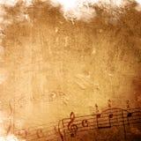абстрактное нот мелодии grunge Стоковое Изображение